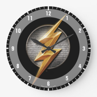 Justice League   The Flash Metallic Bolt Symbol Large Clock