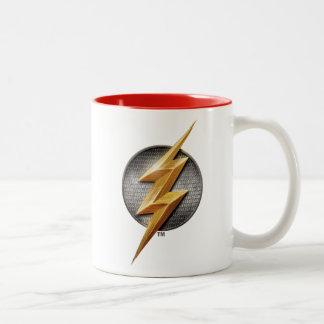 Justice League | The Flash Metallic Bolt Symbol Two-Tone Coffee Mug