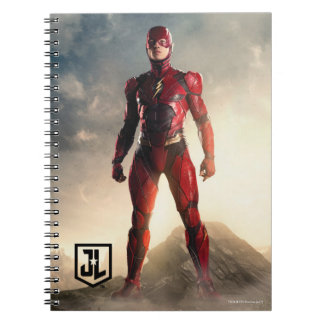 Justice League | The Flash On Battlefield Notebooks