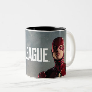 Justice League | The Flash On Battlefield Two-Tone Coffee Mug