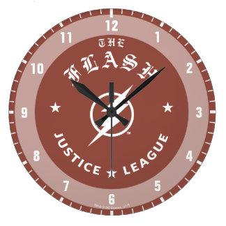 Justice League   The Flash Retro Lightning Emblem Large Clock