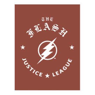 Justice League | The Flash Retro Lightning Emblem Postcard
