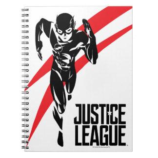 Justice League   The Flash Running Noir Pop Art Notebooks