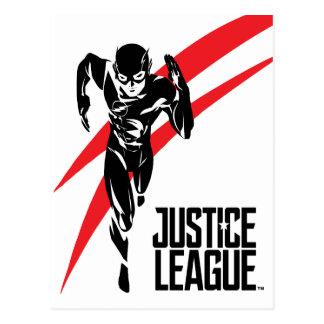 Justice League | The Flash Running Noir Pop Art Postcard