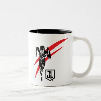 Justice League | The Flash Running Noir Pop Art Two-Tone Coffee Mug