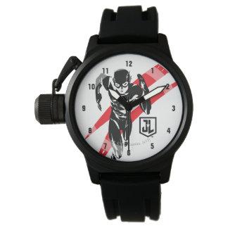 Justice League | The Flash Running Noir Pop Art Watch