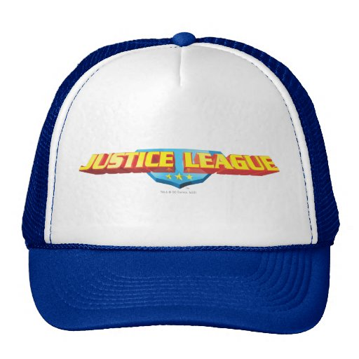 Justice League Thin Name and Shield Logo Hat