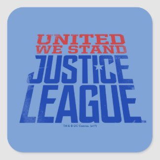 Justice League | United We Stand Graphic Square Sticker