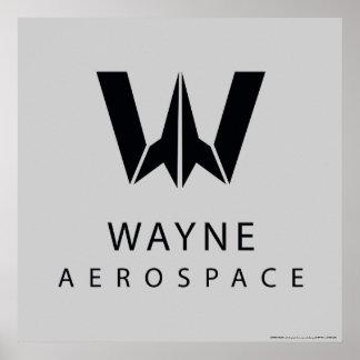 Justice League | Wayne Aerospace Logo Poster