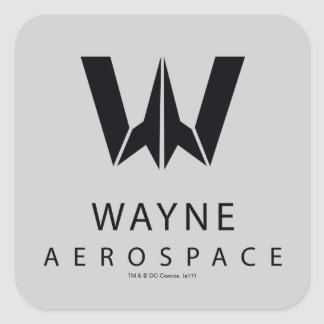 Justice League | Wayne Aerospace Logo Square Sticker