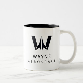 Justice League | Wayne Aerospace Logo Two-Tone Coffee Mug
