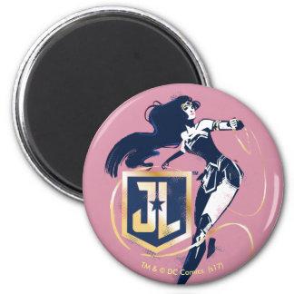 Justice League   Wonder Woman & JL Icon Pop Art Magnet