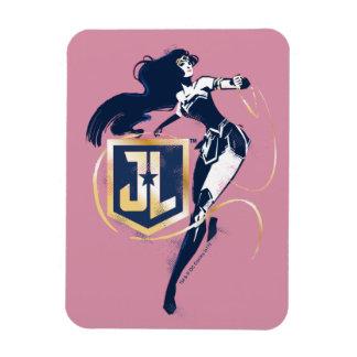 Justice League | Wonder Woman & JL Icon Pop Art Magnet