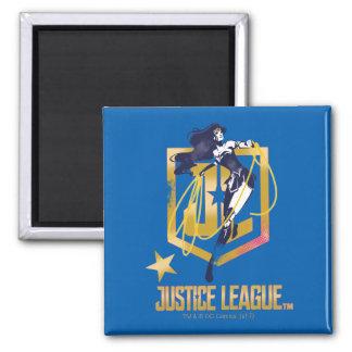 Justice League | Wonder Woman JL Logo Pop Art Magnet