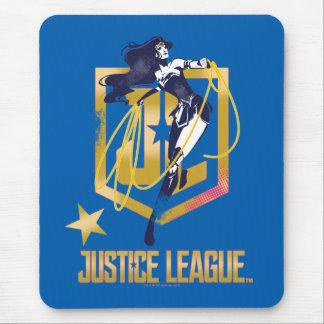 Justice League | Wonder Woman JL Logo Pop Art Mouse Pad