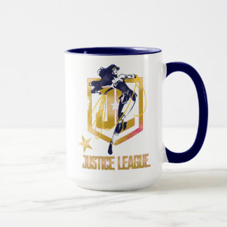 Justice League | Wonder Woman JL Logo Pop Art Mug