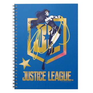 Justice League | Wonder Woman JL Logo Pop Art Notebook