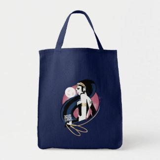 Justice League | Wonder Woman Profile Pop Art Tote Bag