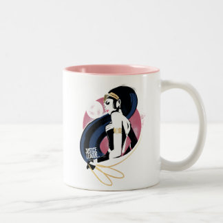 Justice League | Wonder Woman Profile Pop Art Two-Tone Coffee Mug