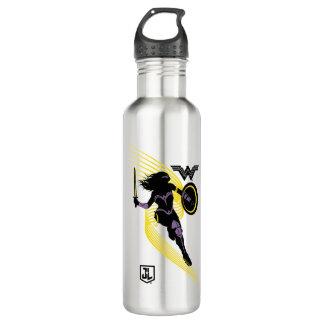 Justice League | Wonder Woman Silhouette Icon 710 Ml Water Bottle