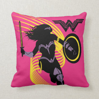 Justice League | Wonder Woman Silhouette Icon Cushion