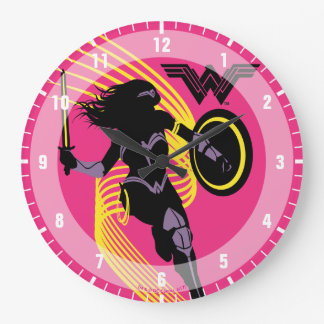 Justice League | Wonder Woman Silhouette Icon Large Clock