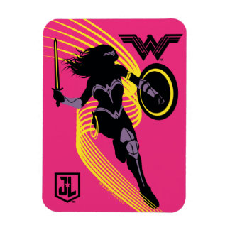 Justice League | Wonder Woman Silhouette Icon Magnet