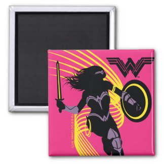Justice League | Wonder Woman Silhouette Icon Magnet