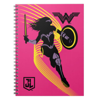 Justice League | Wonder Woman Silhouette Icon Notebooks