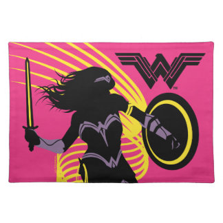 Justice League | Wonder Woman Silhouette Icon Placemat