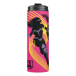 Justice League | Wonder Woman Silhouette Icon Thermal Tumbler