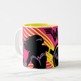 Justice League | Wonder Woman Silhouette Icon Two-Tone Coffee Mug