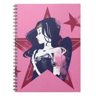 Justice League | Wonder Woman & Stars Pop Art Notebook