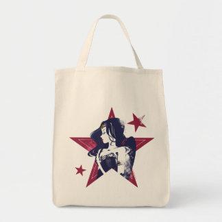 Justice League | Wonder Woman & Stars Pop Art Tote Bag