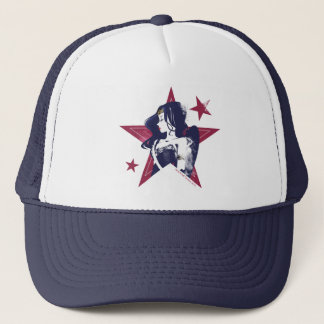 Justice League | Wonder Woman & Stars Pop Art Trucker Hat