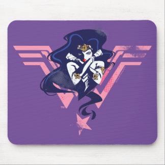 Justice League | Wonder Woman & Symbol Pop Art Mouse Pad