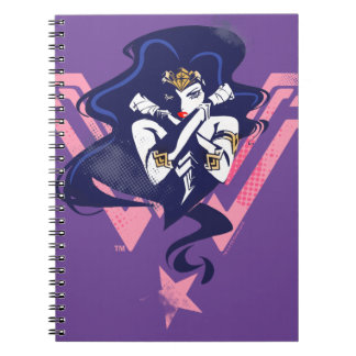 Justice League | Wonder Woman & Symbol Pop Art Notebook