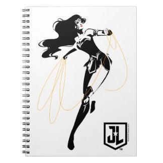 Justice League | Wonder Woman With Lasso Pop Art Notebook