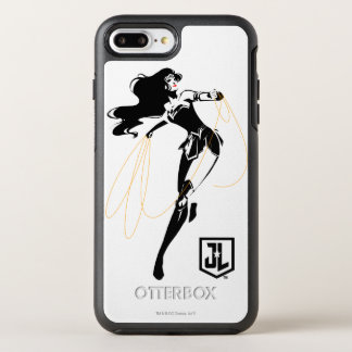 Justice League | Wonder Woman With Lasso Pop Art OtterBox Symmetry iPhone 8 Plus/7 Plus Case