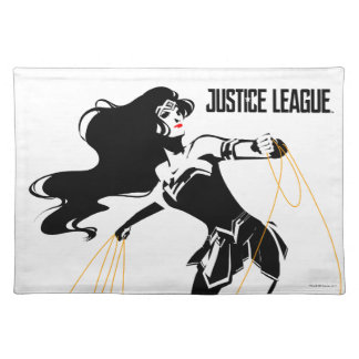 Justice League | Wonder Woman With Lasso Pop Art Placemat