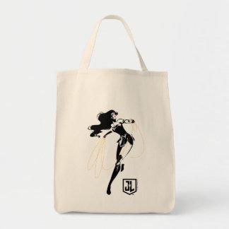 Justice League | Wonder Woman With Lasso Pop Art Tote Bag