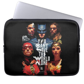 Justice League | You Can't Save The World Alone Laptop Sleeve