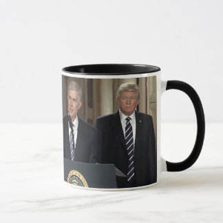 Justice Neil Gorsuch With President Donald Trump Mug