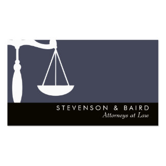 Justice Scale Attorney  at Law Groupon Pack Of Standard Business Cards