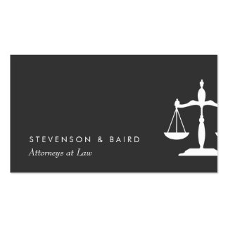 Justice Scale  Attorney Black and White Pack Of Standard Business Cards