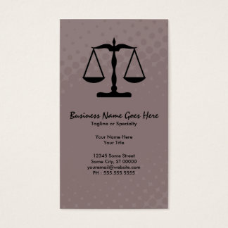 justice scale business card