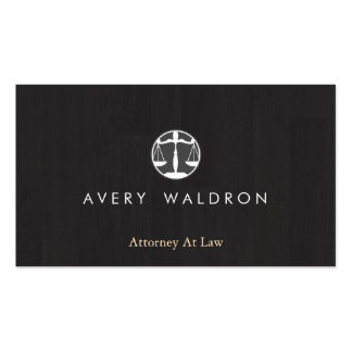 Justice Scales Attorney At Law Modern Black Wood Pack Of Standard Business Cards