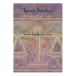 Justice Scales Attorney Business Card