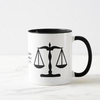 Justice Scales ~ Black Mug