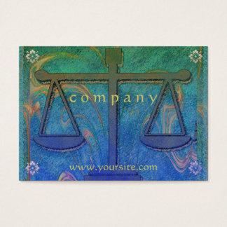 Justice Scales Blue Nouveau Business Card